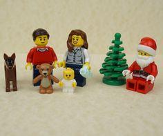Lego Christmas, Lego Santa, Lego Family, Lego cake topper, Lego cake toppers, Lego Santa Claus, Christmas gift ideas, Lego Minifigures,
