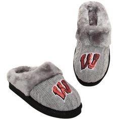 $29.95 Wisconsin Badgers Ladies Slipper - Gray