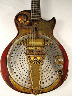 Steampunk custom guitar