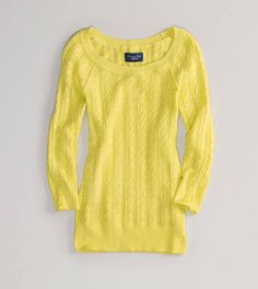 AE Cabled Sweater in Yellow  $19.99