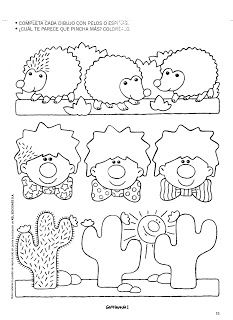 Cactus clown and hedgehog tracing page Preschool Writing, Preschool Education, Preschool Crafts, Activity Games, Activities, Kindergarten, Writing Worksheets, Pre Writing, Drawing For Kids