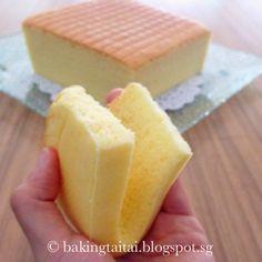 Baking Taitai 烘焙太太: Yoga Cotton Cake 瑜伽棉花蛋糕(中英食谱教程)