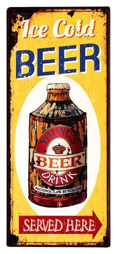 Escudo de chapa 20x30 cm Oktoberfest bar cerveza pub restaurante decorativas de metal póster