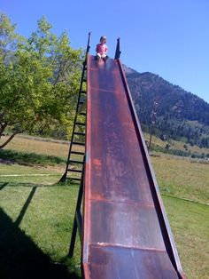 Metal Slides: I was always scared going up and on hot days they burnt your bum!