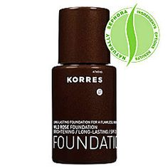 Korres Wild Rose Foundation. YOU GUYS I am wearing a sample of this (in WRF1) with the Pomegranate Mattifying Primer (points freebie) and the Buxom Swept Away blush that I bought yesterday and I swear to you that I look like I've lived in a hyperbaric chamber eating nothing but Gwyneth-approved detox smoothies since the day I was born. AMAZING. Will be picking up the full-size one, yes indeedy.