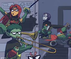 When Robin isn't home.