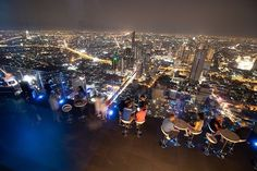 Some more pics of the night scene from the top of Mahanakhon Building