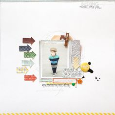 #papercraft #scrapbook #layout.  MArcy Penner