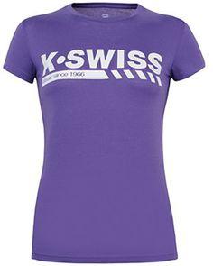 K-Swiss Women's #Classic Tee (Pur/ Wht)
