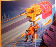 Bomb Blast By Angus McKie. For the first time on the market, here or in the UK, we are very pleased to offer a select number of original cover paintings by Scottish artist Angus McKie. After studies in graphic design, Angus began a long association with Young Artists agency in the late 1970s. http://wow-art.com/Qstore/Qstore.cgi?CMD=009&DEPT=1331132944
