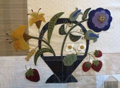 """Free patterns and tutorial for """"Flowers From My Garden"""" Mystery Quilt Along - Block #4"""