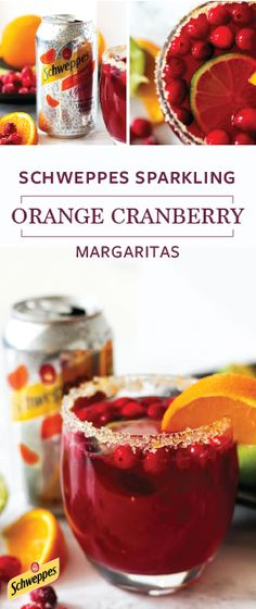 For a truly festive holiday drink idea, look no further than this recipe for Sparkling Orange Cranberry Margaritas! Schweppes Orange Sparkling Water, tequila, orange liquour, cranberry juice, orange juice, lime juice, and sugared cranberries all come together to create this vivid and refreshing seasonal cocktail. With Schweppes Sparkling Water now available at Walmart you can pick up all the ingredients and essentials you need to be party-ready!
