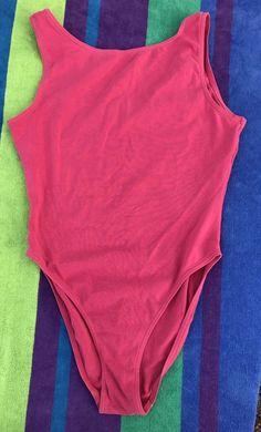 1990's Danskin Leotard Bodysuit Pink Adult Medium #Danskin