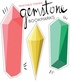 gemstone bookmarks