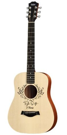 Taylor This is Taylor Swift's very own signature Baby Taylor acoustic guitar. A good option for young Taylor Swift fans to learn to play guitar on. Young Taylor Swift, Taylor Swift Guitar, Taylor Guitars, Baby Taylor, Red Taylor, Taylor Swift Fan, Acoustic Guitar Cake, Guitar Guy, Small Guitar