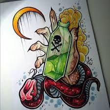 Resultado de imagem para weed  old school tattoo