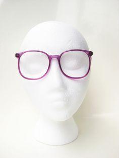 e88fa50abb Vintage Eyeglasses Purple Amethyst Clear Round by OliverandAlexa Red  Eyeglasses