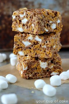 Peanut Butter S'more Bars for a crunchy, chewy treat!