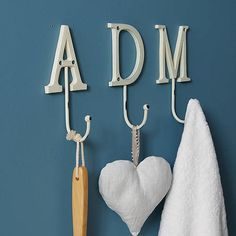 Need These For Kids Towels In Bathroom Vintage Style Painted Letter Hook