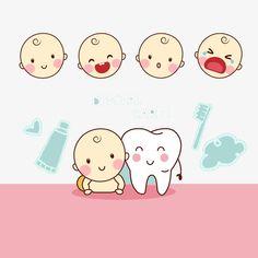 Desenhos animados com OS dentes do bebê, Cartoon, OS Dentes, O DentistaPNG e Vector