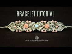 Mirrored Macramé (Reflection) Bracelet TUTORIAL with roses and beads by Macrame School. Please check out more Beaded Macrame Bracelets in playlist: http://g...