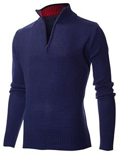 FLATSEVEN Men's Casual Solid Mock Neck Half-Zip up Pullover Sweater (PZ404) Navy, L FLATSEVEN http://www.amazon.co.uk/dp/B00Q09DE1W/ref=cm_sw_r_pi_dp_cSMYub0N3DK7A