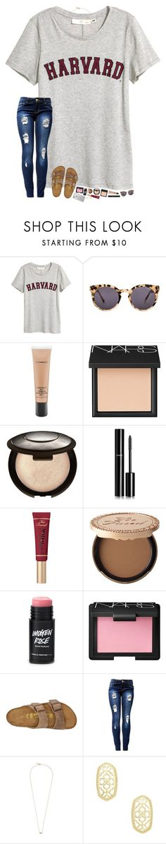 """""""hello exam week! ♀️"""" by hopemarlee ❤ liked on Polyvore featuring Komono, MAC Cosmetics, NARS Cosmetics, Becca, Chanel, Too Faced Cosmetics, Birkenstock, Ginette NY and Kendra Scott"""