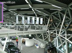 Ekris Showroom in Netherlands - 2 mirror-copied showroom buildings. http://mhllt.com/ekris-showroom/ #Utrecht #Netherlands #ONL #Oosterhuis #Lenard #BMW #Mini #Architecture #Design #Interior #Exterior #Furniture #Showroom #mhllt