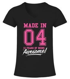 Made In 2004 Awesome 13th Birthday Shirt Kids T