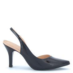 Ambition szandálcipő | Magas sarkú lakk szandálcipő, fekete-púder szín http://chix.hu