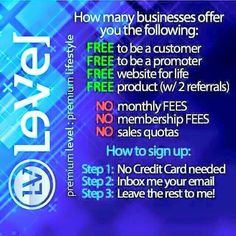 Alright people!! I need 25 new free accounts with Le-vel before noon!! So...lets have some fun!!! The 1st, 5th, 15th and 25th people who go a create their FREE customer account (no obligation to buy or spam) will receive a FREE 3 day trial of Thrive!!! bernie_thrives.le-vel.com