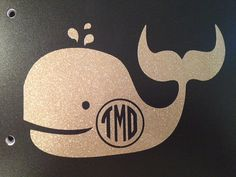 Vinyl Whale Monogram Decal for outdoors/ by PCarolinaBoutique, $7.00