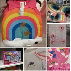 Rainbows everywhere in kids' products
