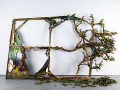 Valerie Hegarty Famous paintings come to life in 3D sculptures of nature's destructive tendencies.