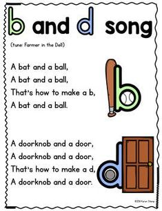 b and d Reversal Song - p and q Reversal Song by Mrs Stamp's Kindergarten Kindergarten Anchor Charts, Kindergarten Songs, Preschool Songs, Kindergarten Literacy, Preschool Learning, Preschool Letters, Learning Activities, Phonics Reading, Teaching Phonics