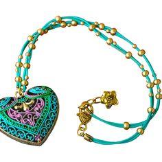 Chimayo Heart Locket www.rubylane.com #redtagsale #chimayoheartlocket #hearts #jewelry #talisman #giftideas #valentinesday #vintagejewelry