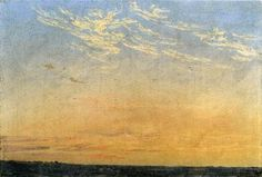 "Caspar David Friedrich     / ""Evening""    / Oil on canvas   / 1824"