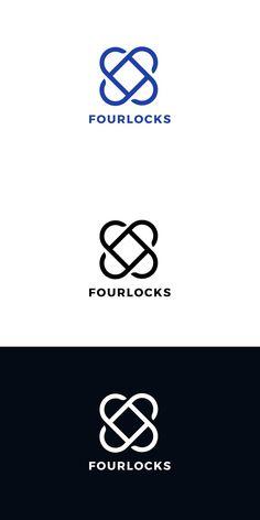 Four Locks Logo Template — Adobe Illustrator Circle Logo Design, Circle Logos, Lock Logo, Logo Templates, Adobe Illustrator, Locks, Door Latches, Castles
