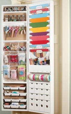 jinger_adams_craft_armoire- need this to hang over my door!!!!!! Need to know the price now... might make a good birthday present for me????