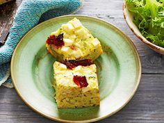 Zucchini and feta slice, zucchini recipe, brought to you by Woman's Day Chocolate Banana Bread, Chocolate Recipes, Rhubarb Pudding Cake, Brunch Recipes, Breakfast Recipes, Baked Macaroni Cheese, Australian Food, Australian Recipes, Braised Cabbage