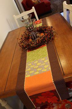Fall table runner.