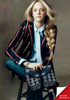 love the blazer and the braid