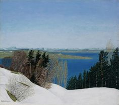 Adolf Dietrich Winter landscape from the sparking place, 1931 Condor, Post Impressionism, Winter Art, Winter Landscape, Folk Art, Tapestry, Snow, Mountains, Places