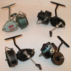Lot of 4 Fishing Reels - (3) Garcia Mitchell / (1) Heddon - Parts or Repair