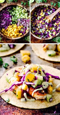 Mind blowing Blackened Fish Tacos with a quick marinade and the most flavorful…