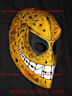 Custom fiberglass NHL ice hockey goalie face mask helmet smiley HO50