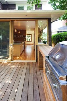 Back Deck built in table by grill