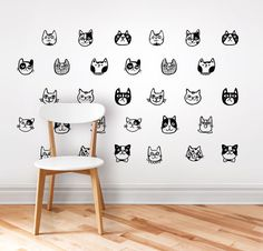 Wall decal sticker. Cats. by DURIDO on Etsy