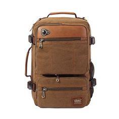 KAUKKO Male Canvas backpacks extremely versatile Travel bag Casual school  Bags Men Computer Rucksack Daypacks versatile 636761cd8d