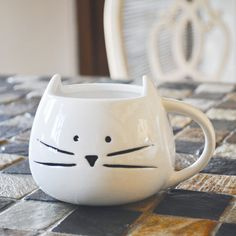 Back in Stock Cute Cat Mug Limited Quantity door TickledTealBoutique